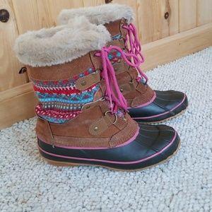 Khombu 5 sweater pink duck DANA winter snow boots