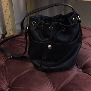 & Other Stories Leather bucket bag