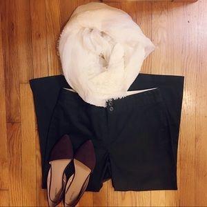 🆕💁🏼♀️BananaRepublic Black Wide Leg Sateen Pant