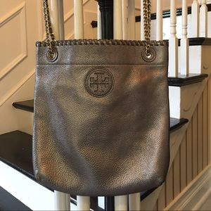 Tory Burch Marion Crossbody in Silver
