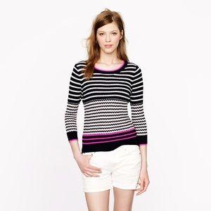 •J.Crew• Merino Wool Striped Sweater
