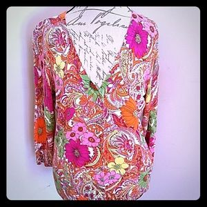 Talbots Floral Sweater