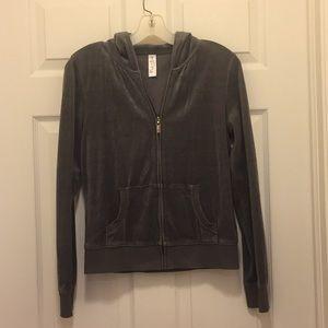 Victoria secret brand velour zip-up jacket