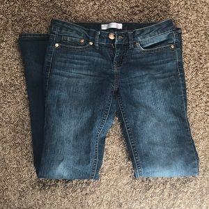Woman's blue jeans