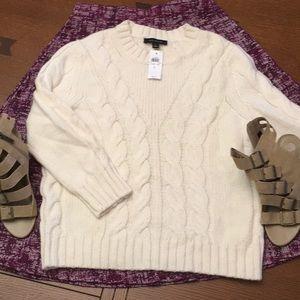 Super soft cream Ann Taylor Sweater