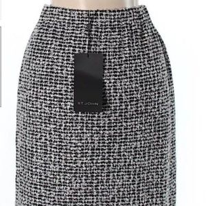 NWT $495 St. John Womens Skirt pull on waist SZ 2