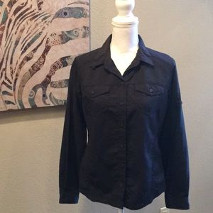 Columbia | Omni-Shade Black Button Up Top