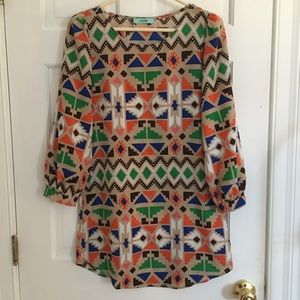 Karlie Geometric dress
