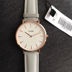 Cluse Rose Gold Watch with Gray Band