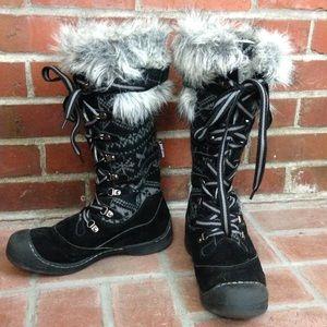Muk luk Gwen Tall Snow Boot Faux Fur Lace Up
