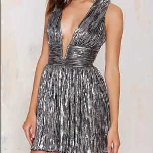 Nasty Gal Gilt Trip Metallic Dress