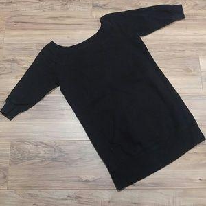 Norma Kamali XS black Tunic Sweatshirt