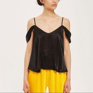 Topshop Satin Rouleaux Cold should top blouse 4