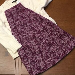 Very Nice Burgandy A-line Skirt