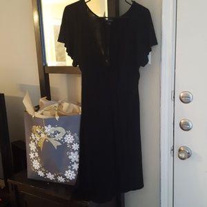 Banana Republic Flutter Sleeve Faux Wrap Dress