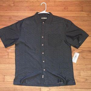 Medium Short Sleeve Button-down Black NEVER WORN