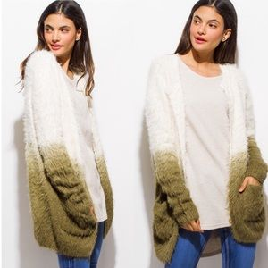 Sweaters - Soft Fuzzy Olive Ombré Sweater