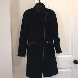 Express Asymmetrical lace up wool coat