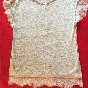 Zara top with lace
