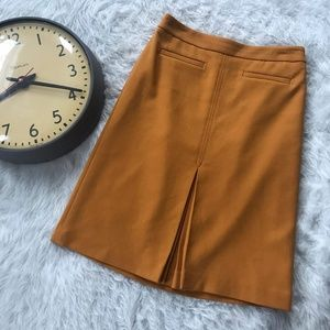 LOFT Career Pencil Skirt Mustard Hipster High T12