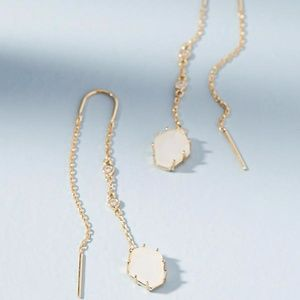 Anthropologie Tethered Stone Threader Earrings