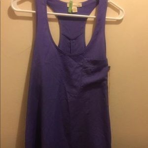 Forever 21 high low hem racerback tank Smal Purple
