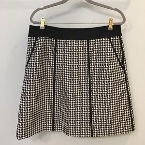Lafayette 148 Black/Whit Patterned Skirt