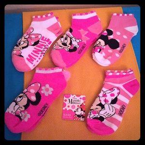 🆕 Disney Minnie Mouse Socks, 5PK