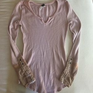 Free People Kyoto Cuff Thermal in Blush
