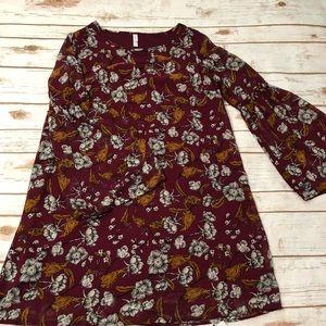 Boho floral shift dress size Large