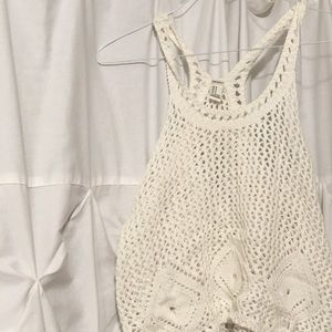 crotchet knit tank