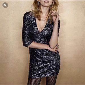 blue express sequin dress