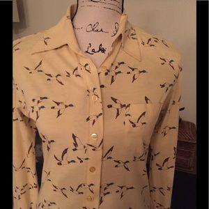 Vintage 60s Duck Shirt Sz S