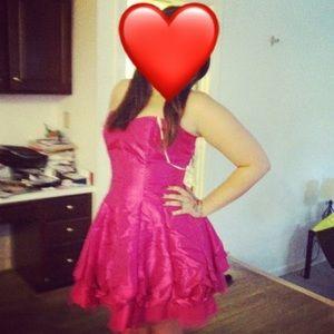 Pink Sweetheart Neckline Formal Dress