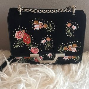 Topshop embroidered crossbody bag