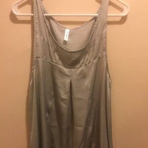 Rvca silver babydoll dress. Medium. Empire waist