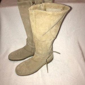 Kate spade suede tall desert boots