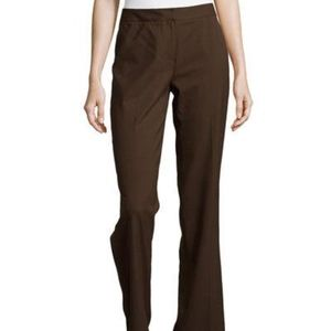 Lafayette 148 brown espresso dress pants slacks 16