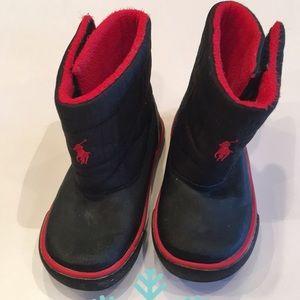 Ralph Lauren | Toddler / Navy & Red Snow Boots