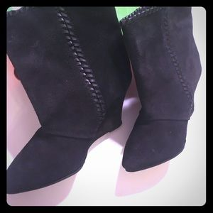 Black Charles David Suede Cool Booties BNIB!