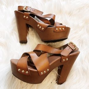 Mossimo Brown Block Heels - Size 6.5