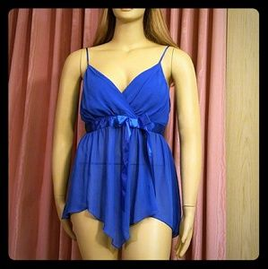 Royal blue pls size sexy nighty
