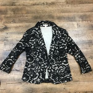 Black lace blazer!