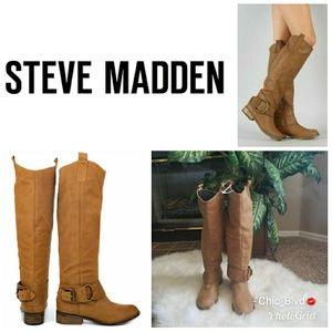 🆕🔥Steve Madden Bankker Cognac Leather