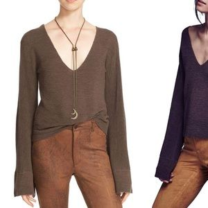 Free People Starman Ribbed Sweater brown Size S