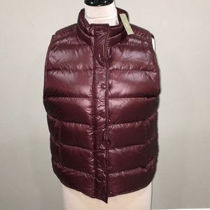 NWT LADIES J CREW XL PUFFER VEST