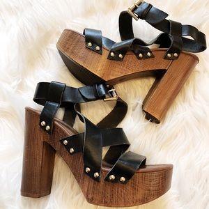 Mossimo Black Block Heels - Size 6.5