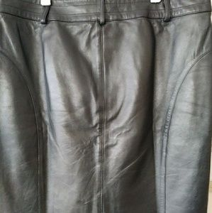 VsVanko Lambskin Leather Skirt.