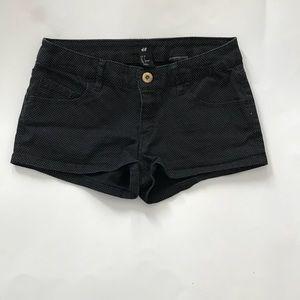 H&M Polka Dot Mini Shorts Women's Size 2