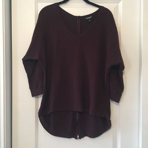 Express burgundy sweater